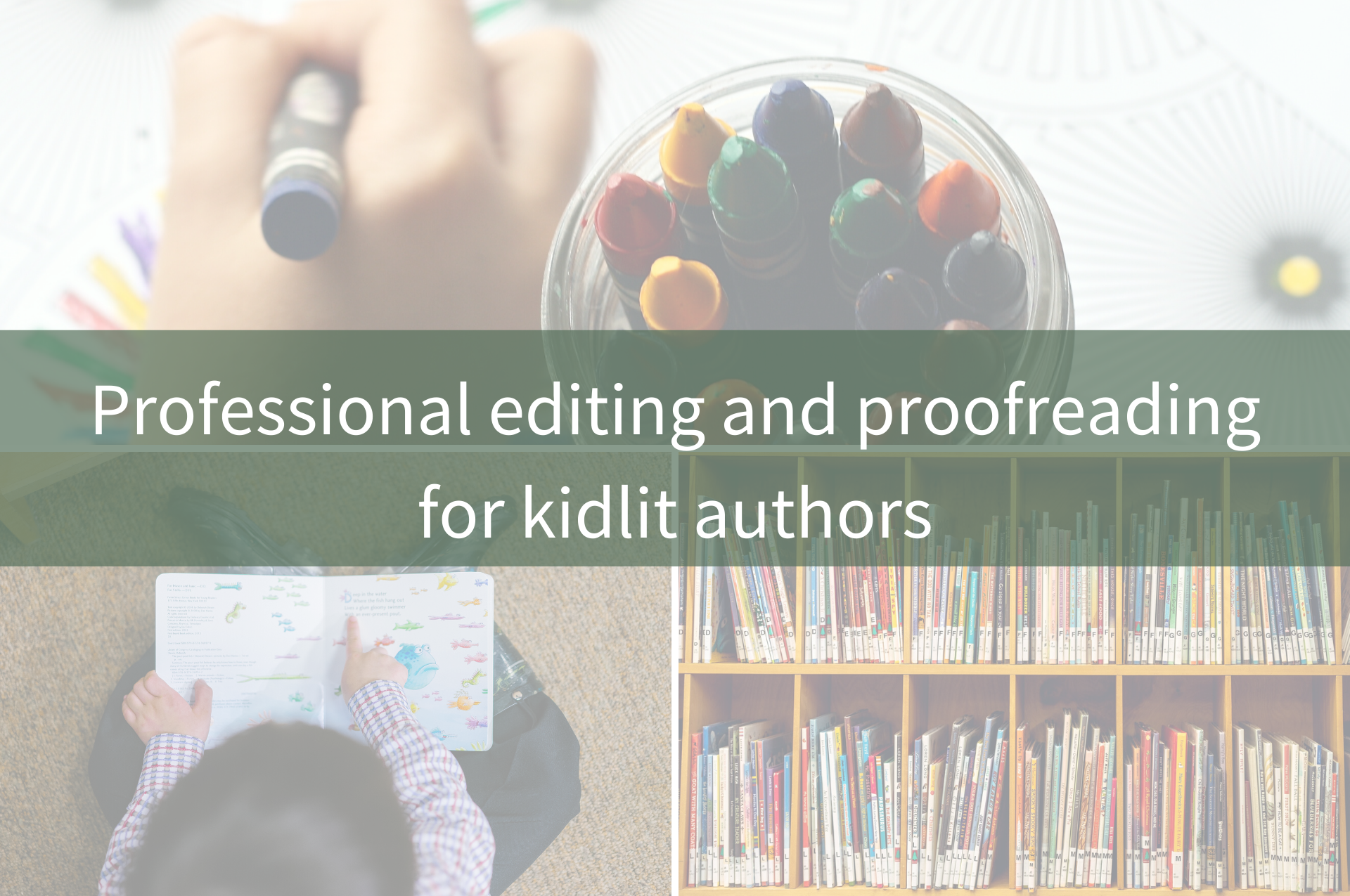 Professional editing and proofreading for kidlit authors