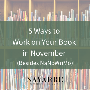 5 Ways to Work on Your Book in November (Besides NaNoWriMo)